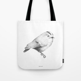 Goldcrest (Regulus regulus) - grey Tote Bag