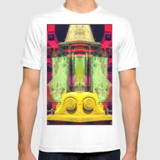 Industrial Abstract Twins White MEDIUM Mens Fitted Tee