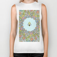 FLOWER POWER BEE Biker Tank