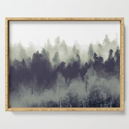 Mountain Forest Abstract Serving Tray