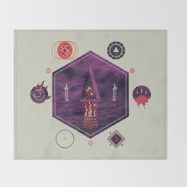 It fell from the stars, It rose from the sea Throw Blanket