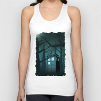 marauders Tank Tops featuring Tardis in the Forest of The Night by neutrone