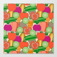 vegetables Canvas Prints featuring Vegetables by Valendji
