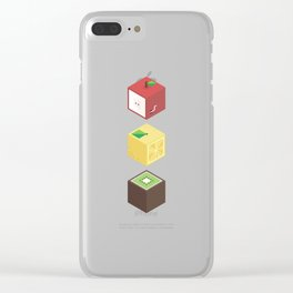 Fruit cubes Clear iPhone Case
