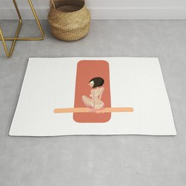Cute red shapes pin-up / Mignonne pin-up aux formes rouges Rug