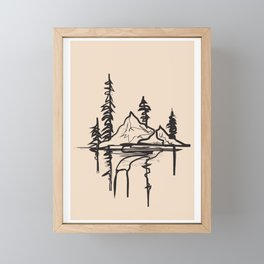 Abstract Landscpe Framed Mini Art Print