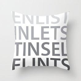 Silent Listen Throw Pillow