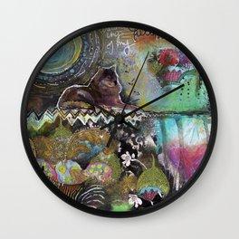Full Moon River Wall Clock