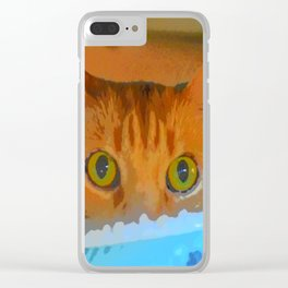 Sir Watson Tabby Digital Cat Clear iPhone Case