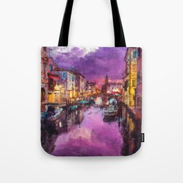 Twilight On Venice Canal Tote Bag