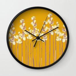 Marshmallows in Gold Wall Clock