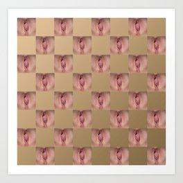Checkerboard Pussy 2 Art Print