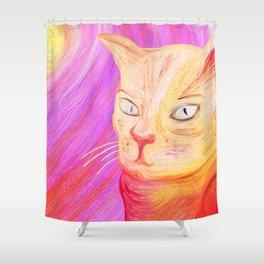 Aristocrat Cat  Shower Curtain
