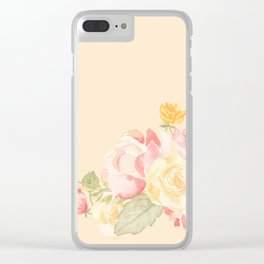 Spring Flowers Peach Clear iPhone Case