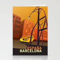 barcelona Stationery Cards featuring Barcelona by Shirong Gao