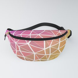 Pink, Orange, and Yellow Triangles 2 Fanny Pack