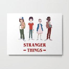 Stranger Thing Character Metal Print