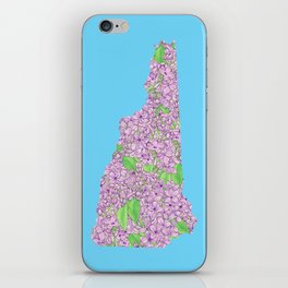 New Hampshire in Flowers iPhone Skin