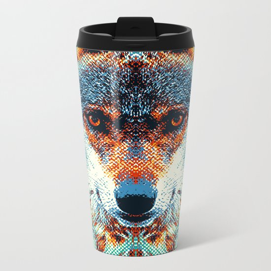 Wolf - Colorful Animals Metal Travel Mug