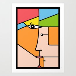 Rostros abstractos Art Print