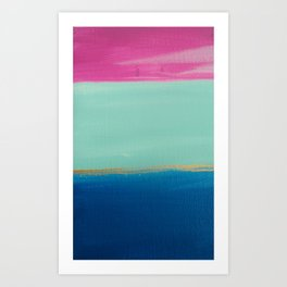 Blocked Art Print