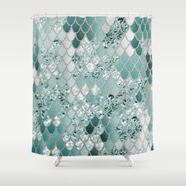 Mermaid Glitter Scales #3 #shiny #decor #art #society6 Shower Curtain
