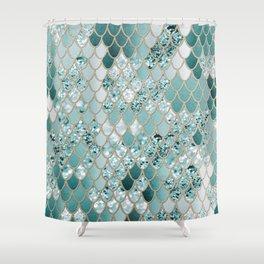 Mermaid Glitter Scales #3 #shiny #decor #art #society6 Shower Curtain