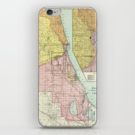 Vintage Chicago Railroad Map (1897) iPhone Skin