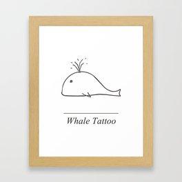 Whale Tattoo Framed Art Print