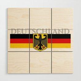Deutschland ...German Flag and Eagle Wood Wall Art