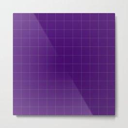 Carre violet Metal Print