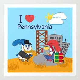 Ernest and Coraline   I love Pennsylvania Art Print