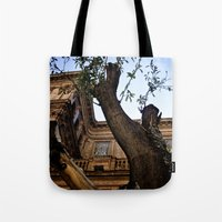 architect Tote Bags featuring Mushroom Architect by Cassandra Evelyn