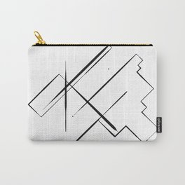 Black Lines Carry-All Pouch
