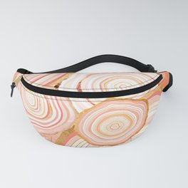 Coral Agate Abstract Fanny Pack