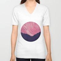 northern lights V-neck T-shirts featuring Northern lights 2 by Richard Seyb