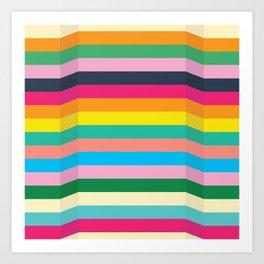 Speed Bumps (Joy Palette) Art Print