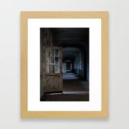 Blues, abandoned hospital Framed Art Print
