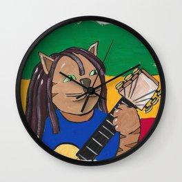Jamaica Rasta Cat Wall Clock