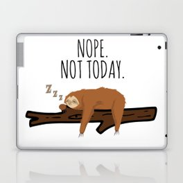 Nope. Not Today! Funny Sleeping Sloth On A Branch Gift Laptop & iPad Skin