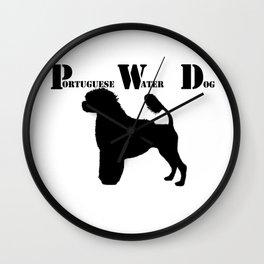 Portuguese Water Dog PWD Lion Cut Wall Clock