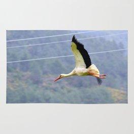 Stork In Flight Rug