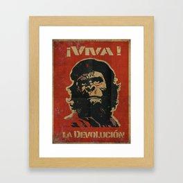 VIVA LA DEVOLUCIÓN Framed Art Print
