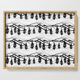 Bats hanging on tree : TM17046 Serving Tray