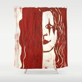 Brandon Lee Red Shower Curtain