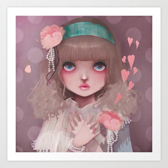 Le coeur en liesse... Art Print