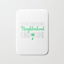 Womens Your Friendly Neighborhood CBD Girl Shirt Women Oil Cures V-Neck T-Shirt Bath Mat