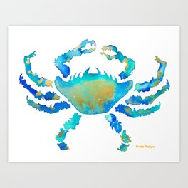 Craggy Blue Crab Art Print