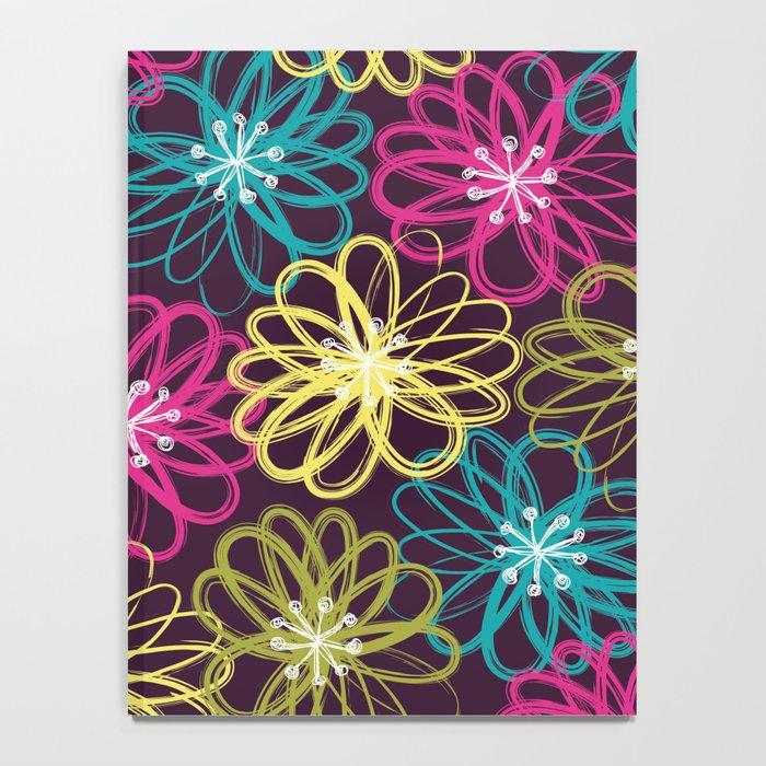 Drybrush Floral Notebook