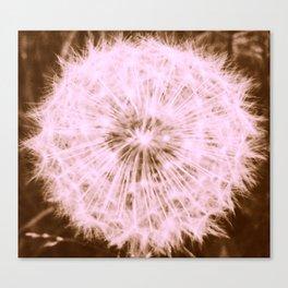 Make a Wish: Rose Gold Dandelion Canvas Print